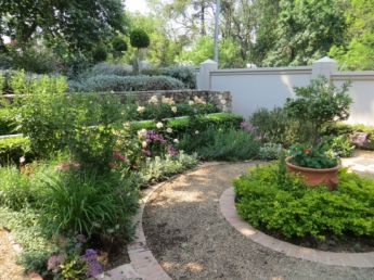 <p>Circle below the terrace filled with colourful perennials</p>