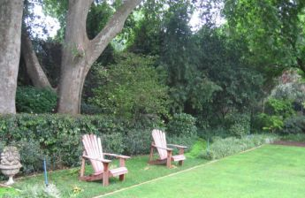 <p>Chairs to create a focal point and look back at the house</p>