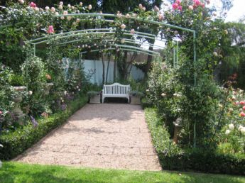 <p>Arches covered in roses</p>